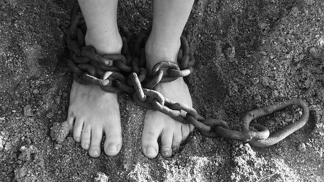 足かせ、奴隷労働