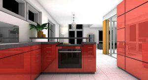 デザイナーズマンションのキッチン